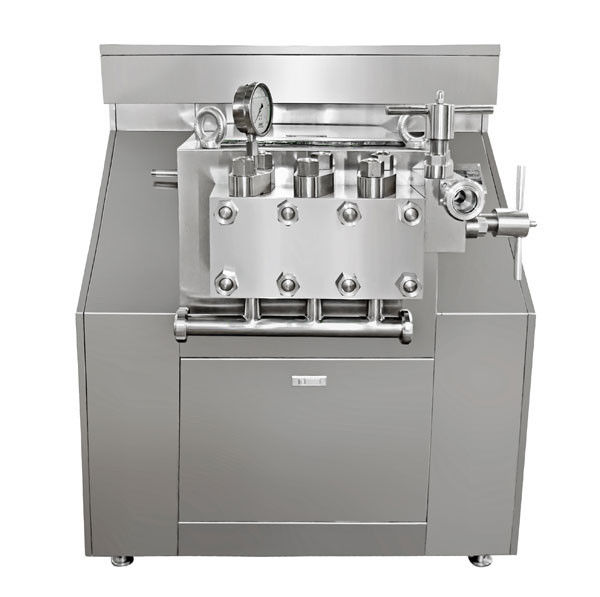 Double Stage Juice Homogenizer 3000l / H Flow Manual Operation Pressure